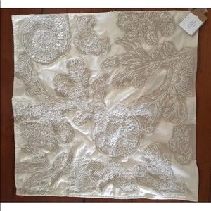 Nwt pottery barn embroidered euro sham